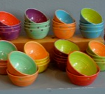 colorful pottery hand thrown in Key West by Grace Calleja